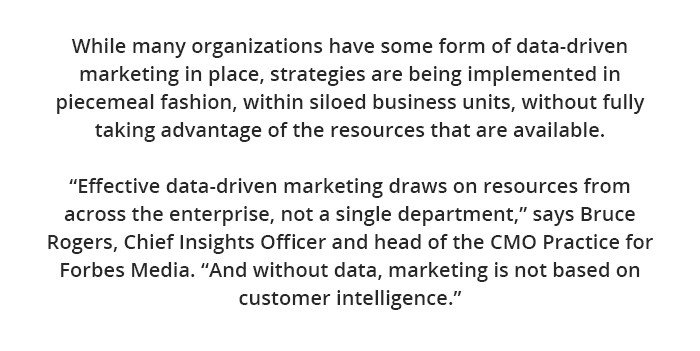 Data Driven and Digitally Savvy