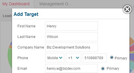 Create Targets in Quick View