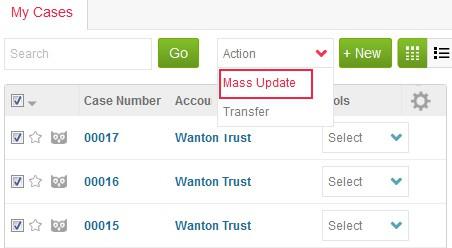 Mass updating Cases