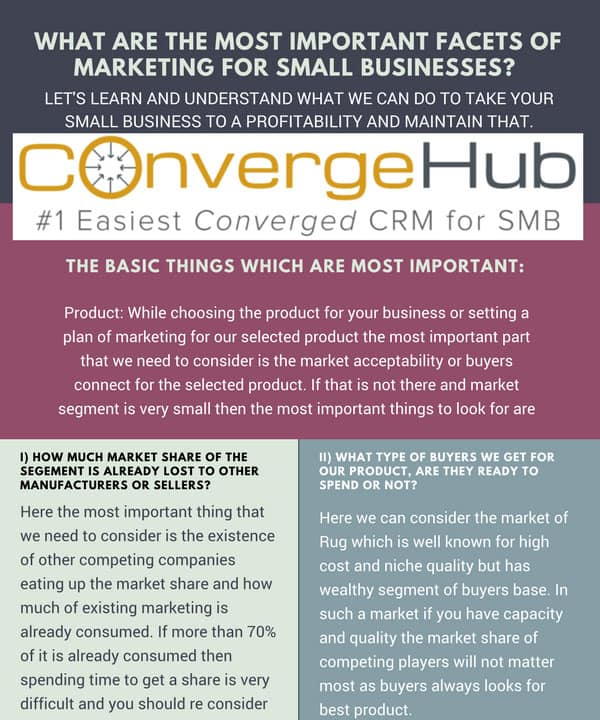 What are the most Important Facets of Marketing for small business