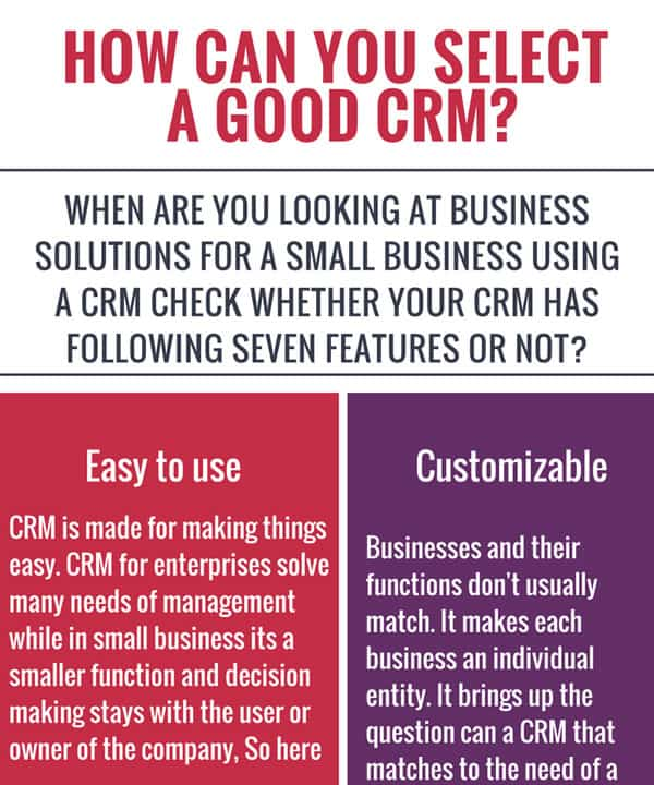 How can you Select a Good CRM